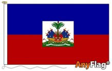 - HAITI WITH CREST ANYFLAG RANGE - VARIOUS SIZES